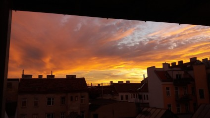 Roter Himmel _Abend Motiv _ Walter Pobaschnig